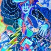 Image of blue goddess for We'Moon call for contributions